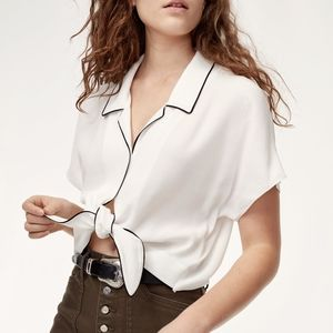 Wilfred front tie blouse
